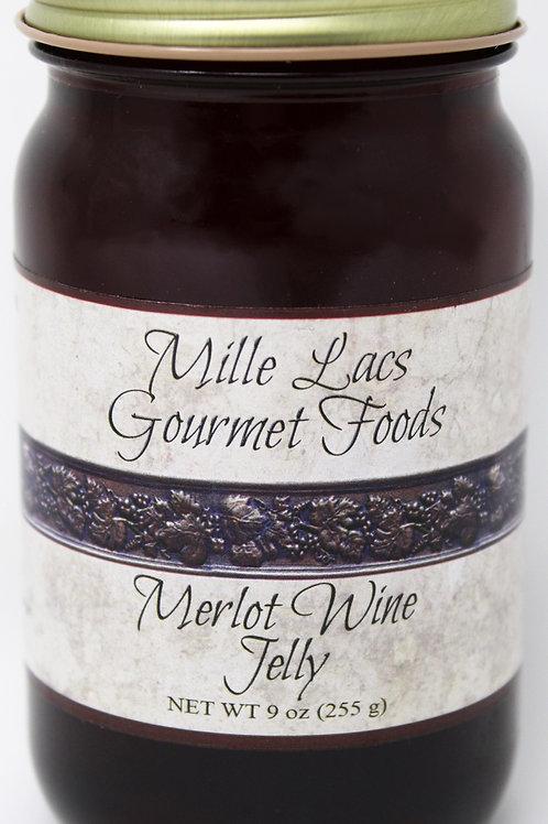 #ML006 9oz Merlot Wine Jelly Mille Lacs Label 6/Case $4.45 each $26.70/Case