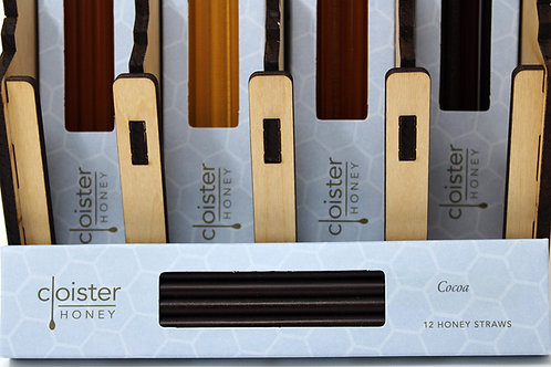 CH002 12 Stick Cocoa Honey Straw Cloister Honey 6/Case $4.25 each $25.44/Case