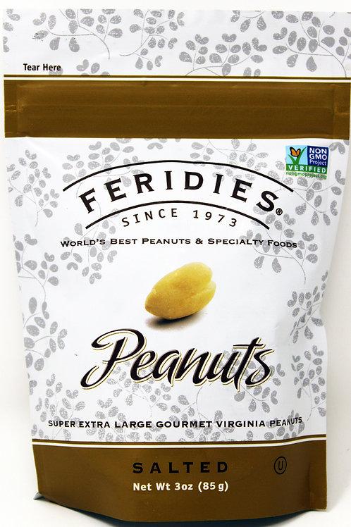 F002 3oz Salted Peanuts Feridies 20/Case $2.15 each $43.00/case