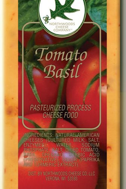 #1124 4oz Wisconsin Tomato Basil Cheese Bar $1.84@ case 36
