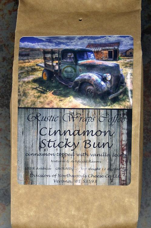 #8510 12 oz Rustic Wraps Cinnamon Sticky Bun Coffee Kraft Wrap 6/Case