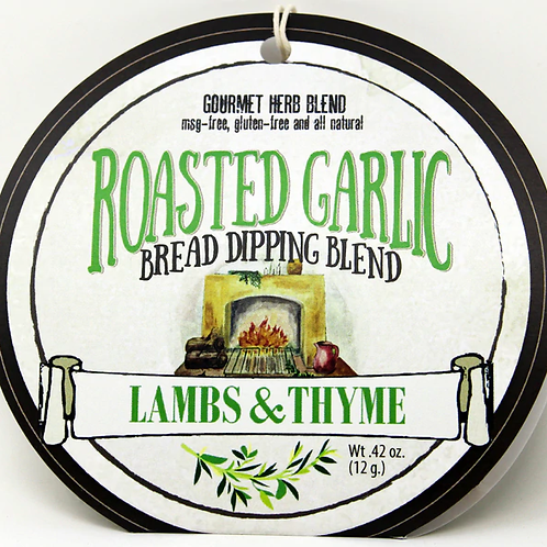 7503 Roasted Garlic Bread Dipping Blend .42oz 12/case Made in WI No MSG, Gluten