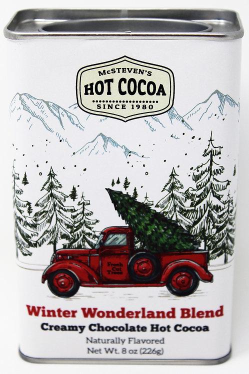 #2533 8oz Winter Wonderland Red Truck with Tree Tin $6.35@