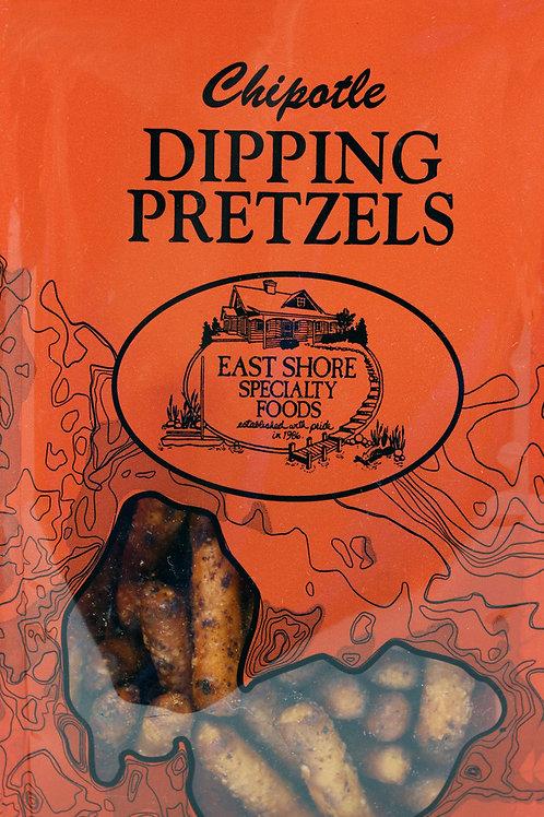 #PR4 4oz East Shore Chipotle Dipping Pretzels 18/case Red Bag $2.19 @ East Shore