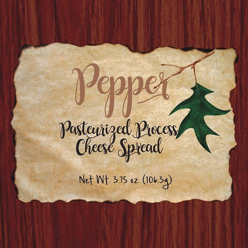 #1137 3.75 oz Wood Grain Pepper Cheese Box $1.95@ case 48