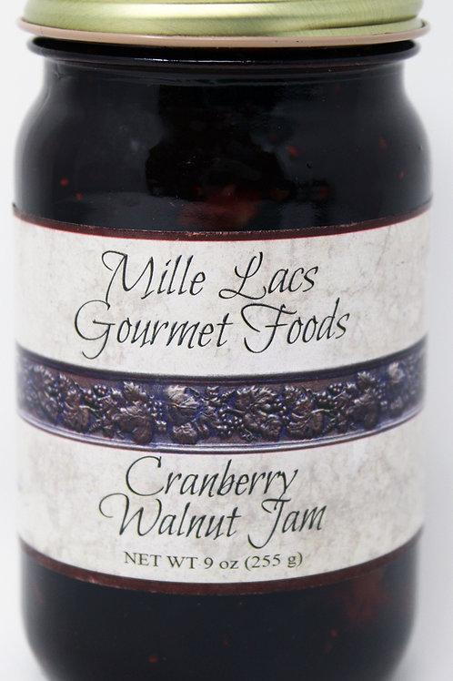 #ML005 9oz Cranberry Walnut Jam Mille Lacs Label 6/case $4.45 each $26.70/Case