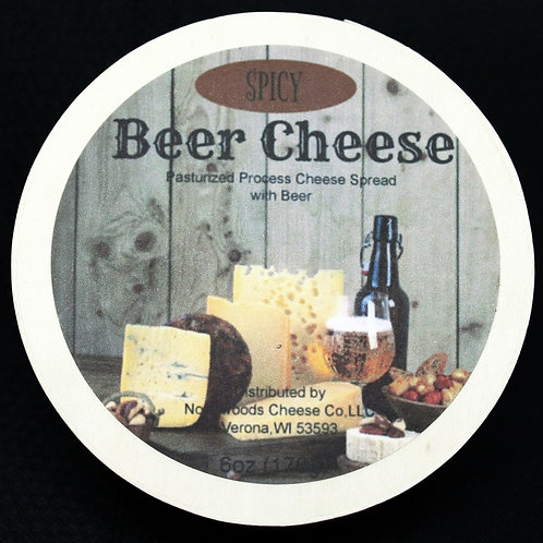 #1141 6oz Spicy Beer Cheese Spread Hoop 24/Case -