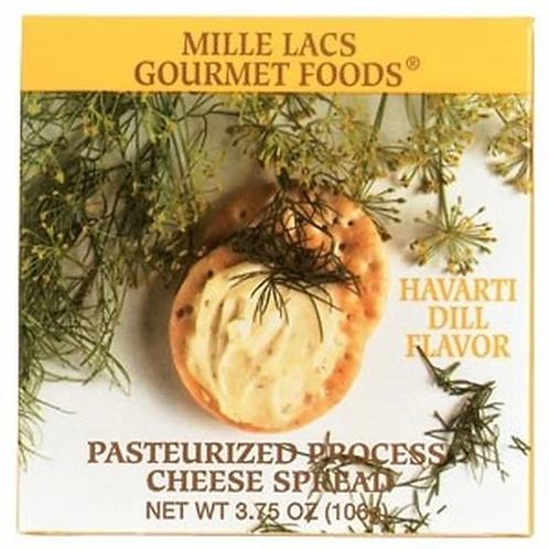 #ML43305 3.75 oz Havarti Dill Boxed Cheese Spread 48/case $1.40@