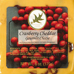 #1016 Wisconsin Cranberry 6oz Cheddar Square $2.48@