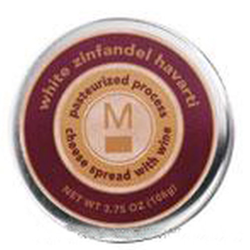 #ML43148 3.75oz White Zinfandel Havarti Cheese Tin  24/case  $2.45 each $58.80/C
