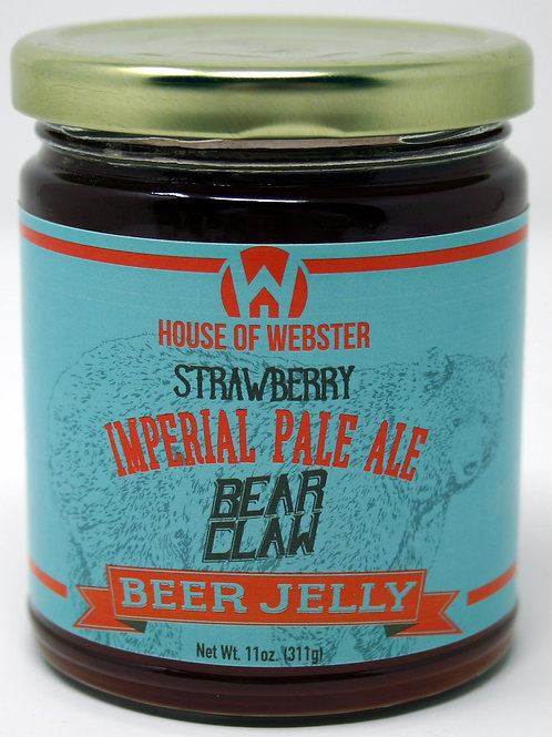 #8001B 11oz Bear Claw Strawberry IPA Craft Beer Jelly $6.25@ case 6
