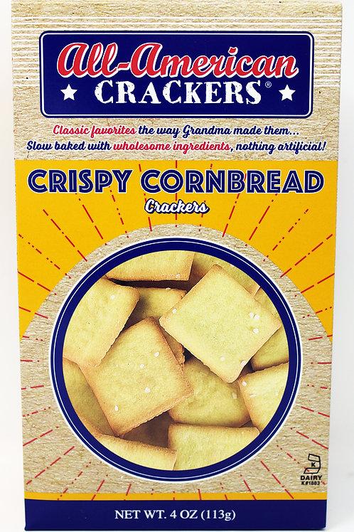 #8402 NEW 4oz Crispy Cornbread all American Crackers $1.87@ case 6