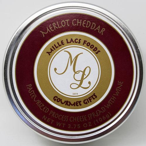 ML43120 3.75oz Mille Lacs Merlot Cheddar Cheese Tin 48/case $2.55 each