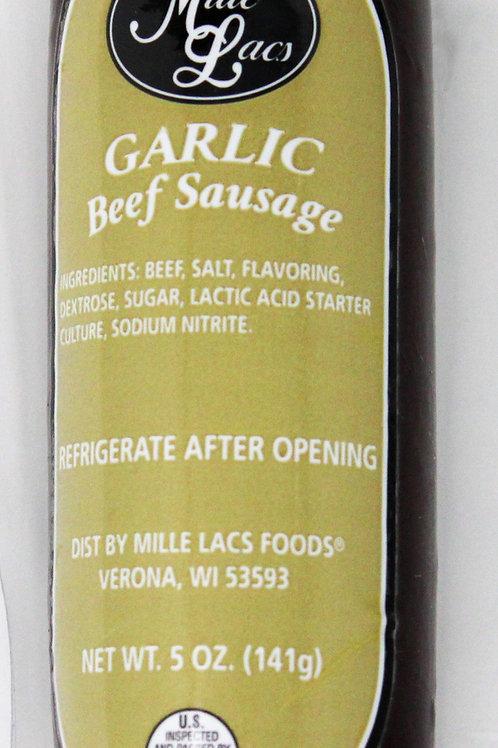 ML43290 5oz Mille Lacs Garlic Beef Summer Sausage /Gold Label 16/case $2.65 each