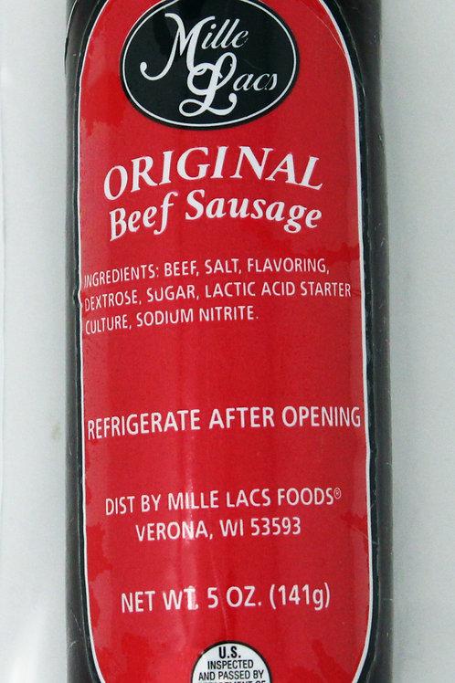 #ML43291 5oz Mille Lacs Original Beef Summer Sausage/Red label 16/case $2.65 eac