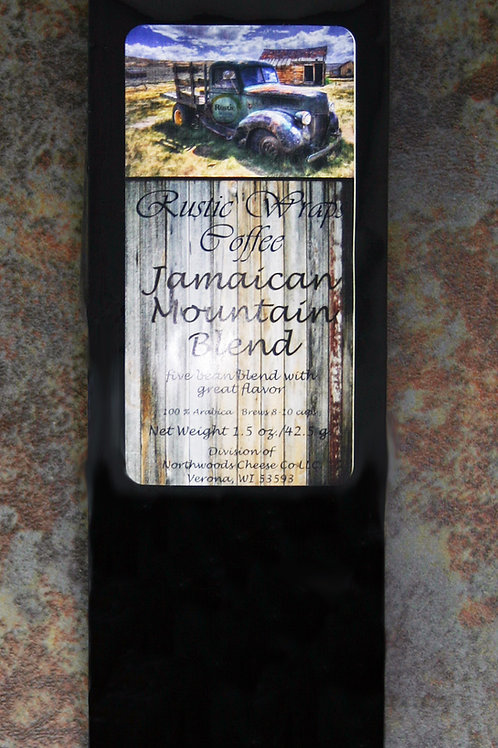 #8503 1.5oz Rustic Wraps Jamaican Mountain Blend Coffee Black Wrap 12/Case