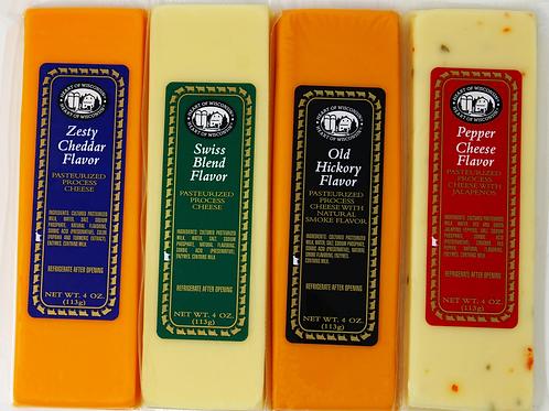 ML43221 4oz Cheese Bar Assortment Heart of Wisconsin 36/case $1.98 each