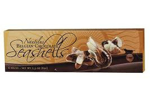 ML48075 2.30oz Belgian Chocolate Seashells 36/Case $1.41@ $50.76/Cs
