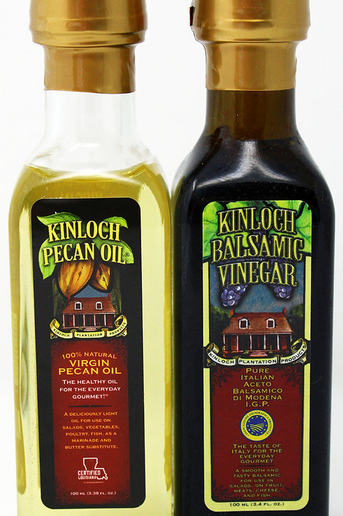 #KP005 100 ML Assortment Pecan and Balsamic Vinegar Bottle 6 of each flavor 12/c