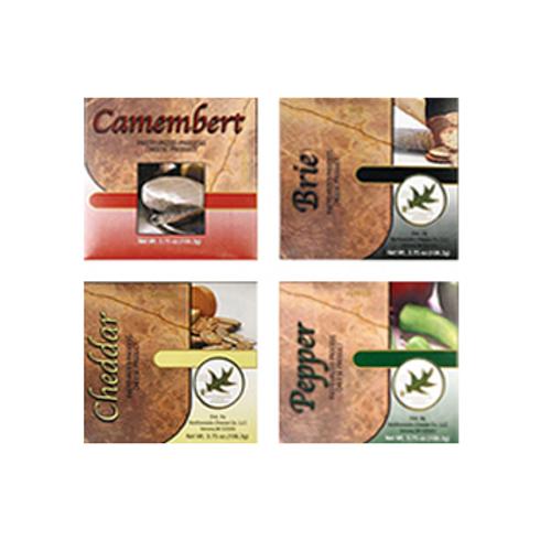 SALE #CBA Assort. Camembert, Cheddar, Brie & Pepper Cheese Spread 12@ assort