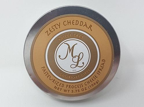 #ML43101 3.75oz Zesty Cheddar Cheese Tin 48/cs $2.45 each $117.60