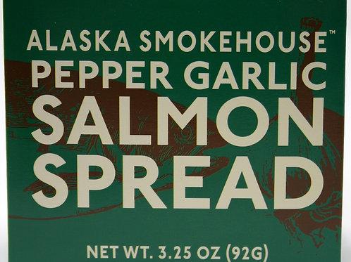 6019 3.25oz Pepper Garlic Salmon Spread Alaska Smokehouse New 12/case $4.15 each