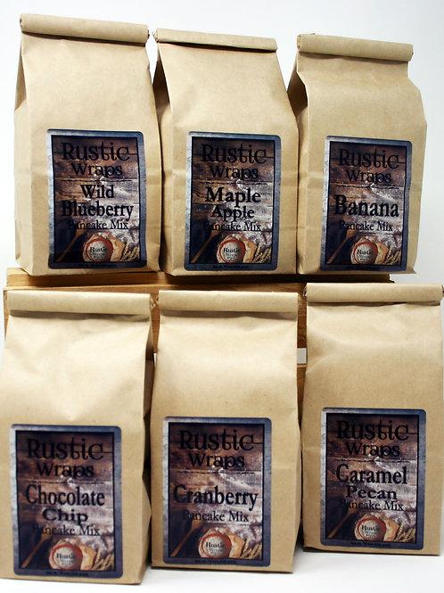 #WC5017 Rustic Wraps Pancake Assortment 1 of each flavor 16oz Each 6/Case