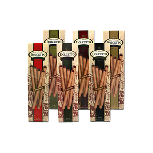#3007 .9oz. Dolcetto Chocolate Pastry Wafer Rolls 24/Case $1.02 Each $24.48 Per