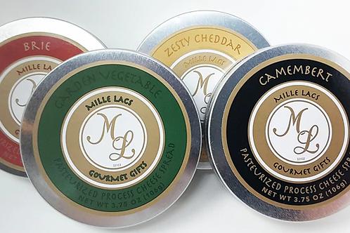 #ML43105 3.75oz Cheese Tin Assortment 48/cs $2.55 each