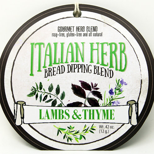 7502 Italian Herb Bread Dipping Blend .42oz 12/case Made in WI $3.49@