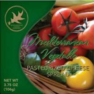 #1130 3.75 oz Mediterranean Vegetable Cheese Spread $1.34@ cs 48