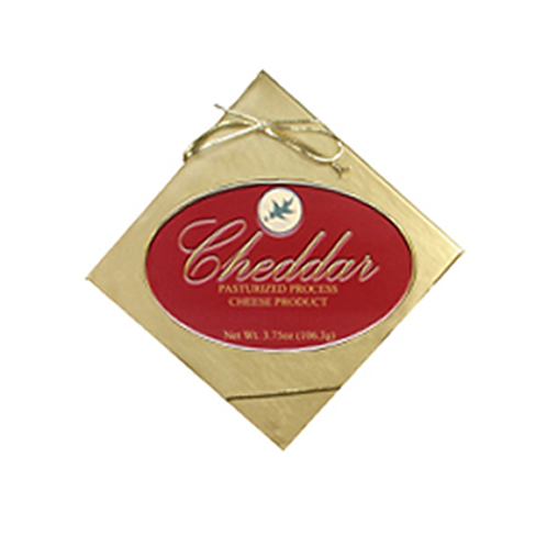#1069R 3.75oz. Northwoods Cheese Premier Cheddar Cheese Spread Box Red Label