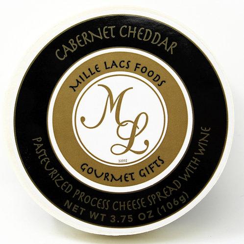 #ML43200 3.75oz Mille Lacs Cabernet Cheddar Wine Cheese Hoop 48/case $2.45 each