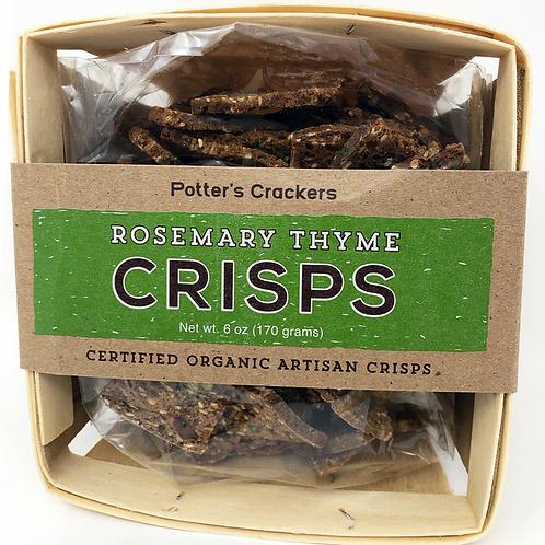 #7603 6oz Potter's Crisps Rosemary Thyme 12/case $5.25 each