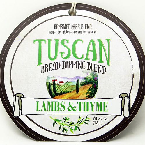 7501 Tuscan Bread Dipping Blend .42oz Made in WI, No MSG, Gluten Free-Natural