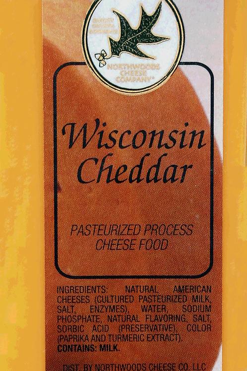 1004 4oz. WIsconsin Cheddar Cheese Bar Shelf Stable. Gluten Free Non-GMO. 36/Cas
