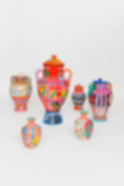 Matheus Chiaratti-Plethora-painted jars.