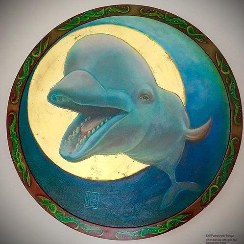Self portrait with Beluga by L.W.Stambollion