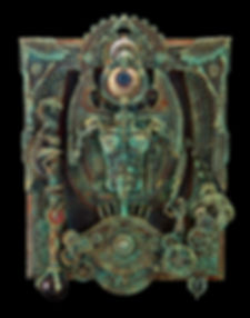 Horus Eye assemblage sculpture