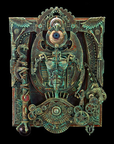 Horus Eye assemblage sculpture