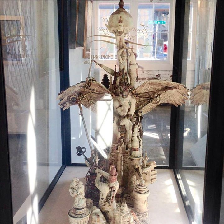 From bones to wings assemblage sculpture  for inquiry please contact KrabJabStudio