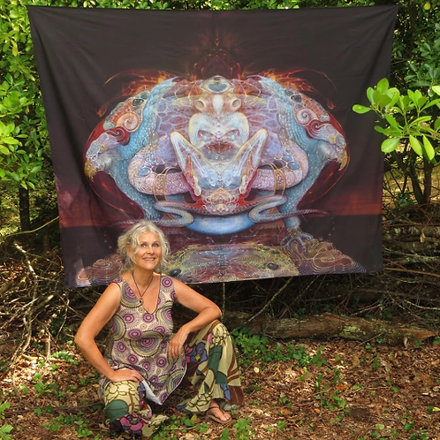 Tapestry of Universal Mother, grande, by Martina Hoffmann