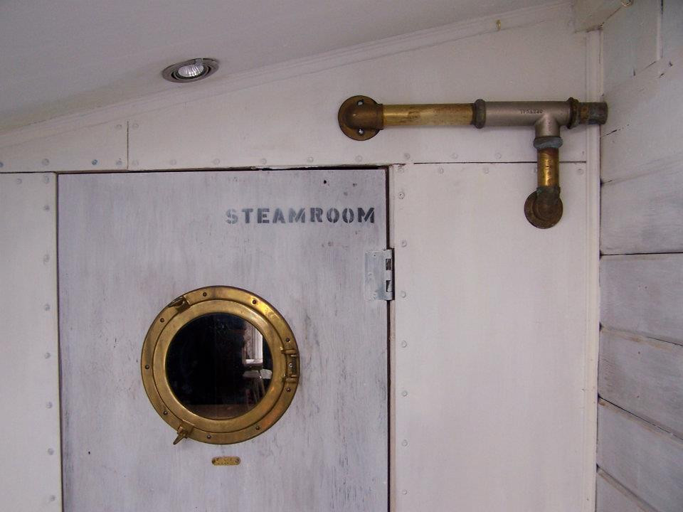 the little steamroom ( with underwater film projections through the window)
