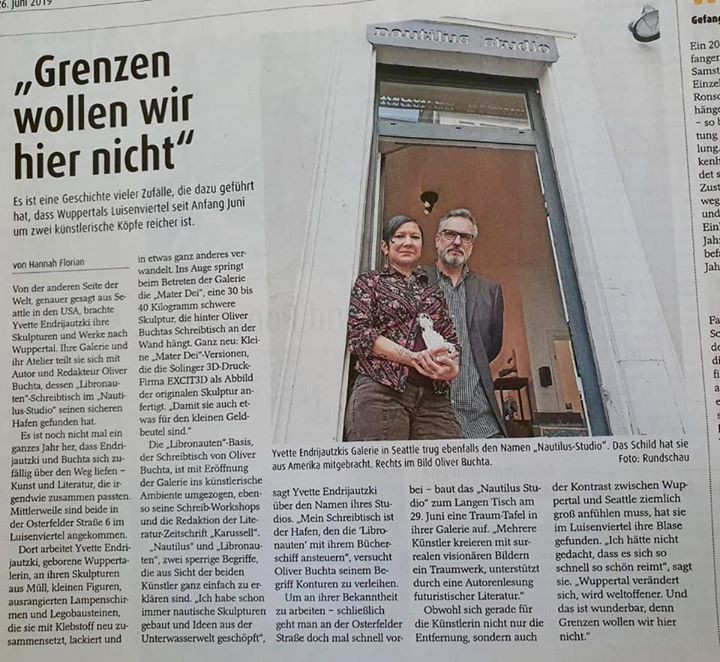 in the newspaper