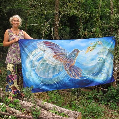 Tapestry Colibri, grande, by Martina Hoffmann