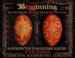bEGGinning exhibit poster