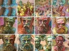 3D Friedrich Engels Drucke