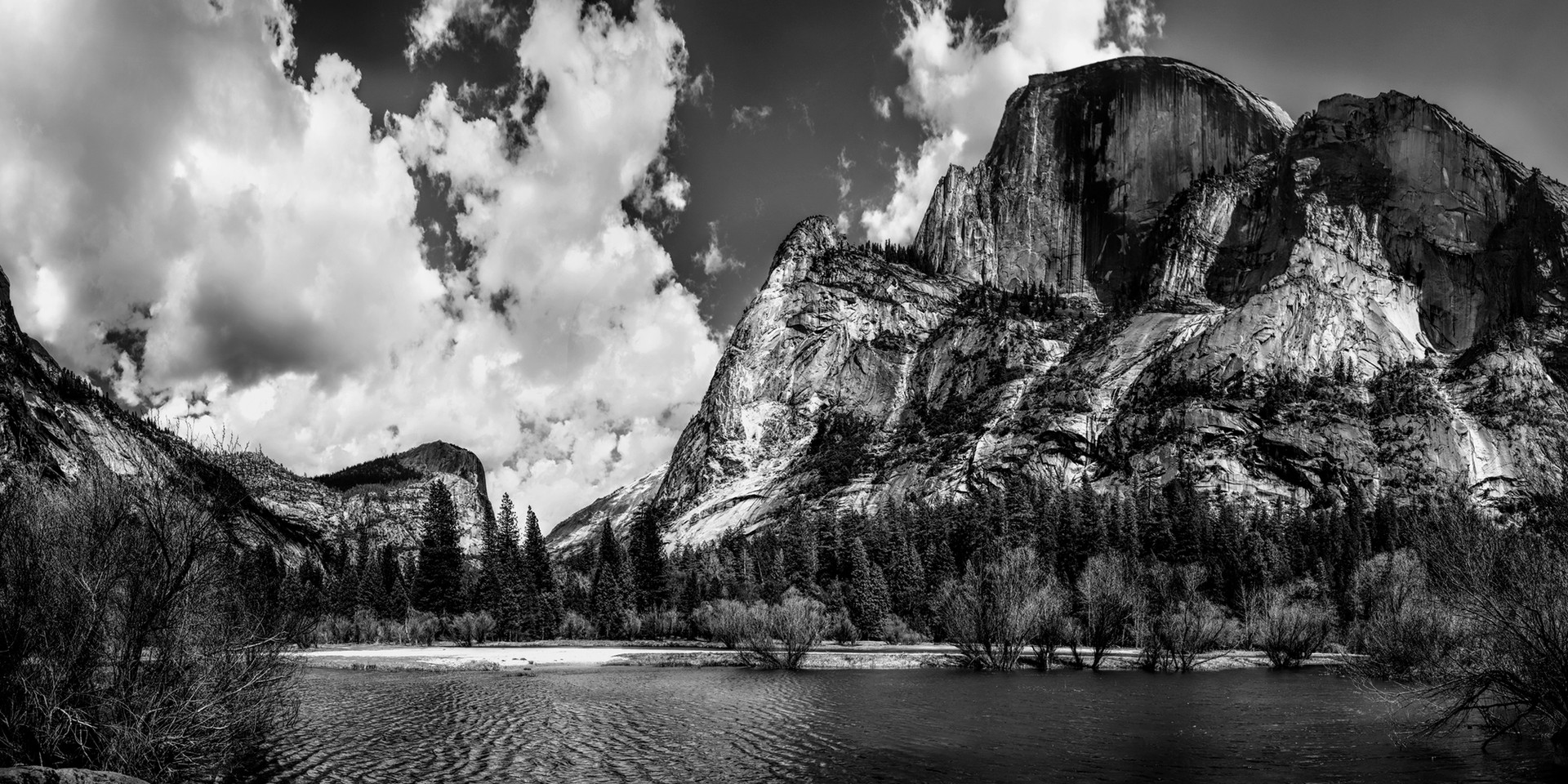 Upper Mirror Lake B/W