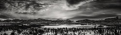 Lake Dillon Panorama B/W