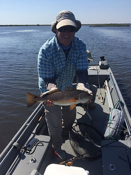 Redfish on the Johnson Silver Minnow